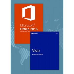 Office2016 Professional Plus + Visio Professional 2016