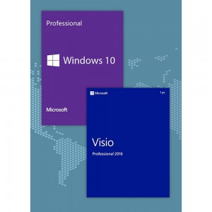 Windows10 Pro + Visio Professional 2016